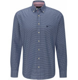 Fynch-Hatton Heren overhemd ruit button-down oxford casual fit