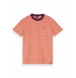 Scotch & Soda T-shirt 155403 0219 cotton elastane crewneck tee oranje - rood
