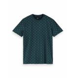 Scotch & Soda T-shirt 155403 0222 cotton elastane crewneck tee - groen