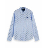 Scotch & Soda Overhemd 155163 0217 classic pocket shirt -