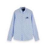 Scotch & Soda Overhemd 155163 0217 classic pocket shirt - licht blauw
