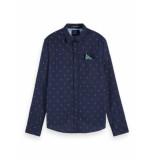 Scotch & Soda Overhemd 155163 0218 classic pocket shirt - blauw