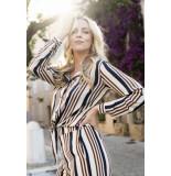 Esqualo Sp20.14039 blouse knot stripes