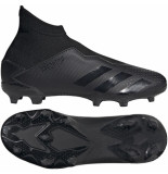 Adidas Predator 20.3 laceless fg kids core black