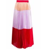 Twin-set Lange rok rood met paars