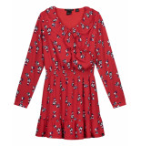 Nik & Nik Jurk flowery dress rood