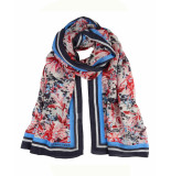 HV Polo Shawl 1005103205 flower rood