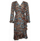 20 TO A9332 076 dress wrap-mixed colours tabacco
