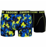 Zaccini 2pack boxershorts camou blue combi
