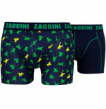 Zaccini 2pack boxershorts kikkers blue combi