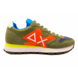 SUN68 Sneakers tom logo patch fluo