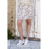 Esqualo Sp20.15027 skirt short small flower wit