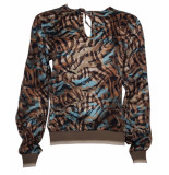 20 TO 128 076 blouse mixed colours tabacco bruin