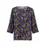 L.O.E.S. 20296 6966 loes bella leaf shirt dblue/shirt blue
