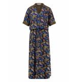 L.O.E.S. 20293 6966 loes caline leaf dress dblue/shirt blue