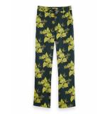 Scotch & Soda 156384 0217 wide leg drapey pants/broek combo a groen