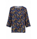 Studio Anneloes Bella leaf shirt blauw