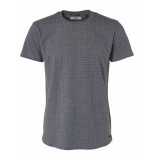 No Excess T-shirt s/sl, r-neck, ao print,yd s night blauw