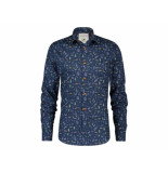 A Fish Named Fred 20.02.036 shirt tequila navy blue - blauw