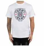 Tommy Hilfiger Tjm circle logo tee wit