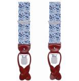 Profuomo Pprl100001 bretels 75% polyester / 15% elastaan / 10% leer blauw