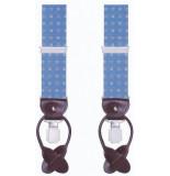 Profuomo Pprl100003 bretels 75% polyester / 15% elastaan / 10% leer blauw