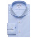 Emanuel Berg Heren overhemd heavy twill cutaway effen slim fit