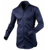 Circle of Gentlemen Heren overhemd andre cutaway slim fit blauw