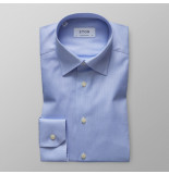 Eton Heren overhemd licht effen royal oxford hidden button-down blauw