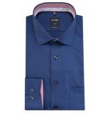 Olymp Luxor tailored fit overhemd met lange mouwen blauw