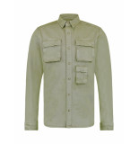 Pure White Regular fit overshirt green 20010201 - groen