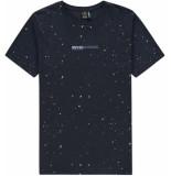 Kultivate T-shirt painter dark navy blauw