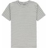Kultivate T-shirt mini jacq ecru wit