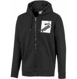 Puma Big logo fz hoody fl 597248-01 zwart