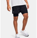 Under Armour M qualifier speedpocket 2-in-1 short 1355449-001 zwart