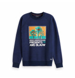 Scotch & Soda Amsterdams Blauw crew neck