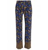 Studio Anneloes Cecile leaf pants blauw