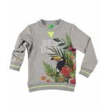 Funky XS Sweatshirt tropic sweat grijs