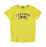 Funky XS T-shirt casanova tee geel