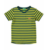 Funky XS T-shirt stripe tee geel