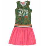 Funky XS Jurk holiday dress khaki