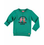 Funky XS Sweaters love sweat groen