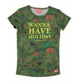Funky XS T-shirt paradise tee khaki