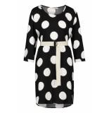 Penn & Ink Loose fit polkadot jurk zwart