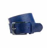 Eagle Belts Mooie blauwe jeansriem 40 mm breed