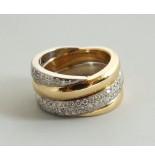 Christian 18 karaat gouden ring met briljanten wit goud
