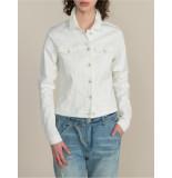 Summum 1s988-5043 jacket white rinse denim