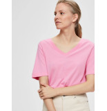 Selected Femme 16065932 slfstandard ss v-neck tee seasonal roze