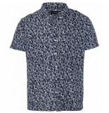 Clean Cut New ohio shirt - flower blauw