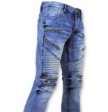 True Rise Spijkerbroek biker jeans zip